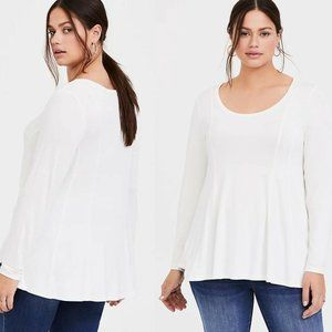 Torrid Super Soft Fit & Flare LS Tee HW9145